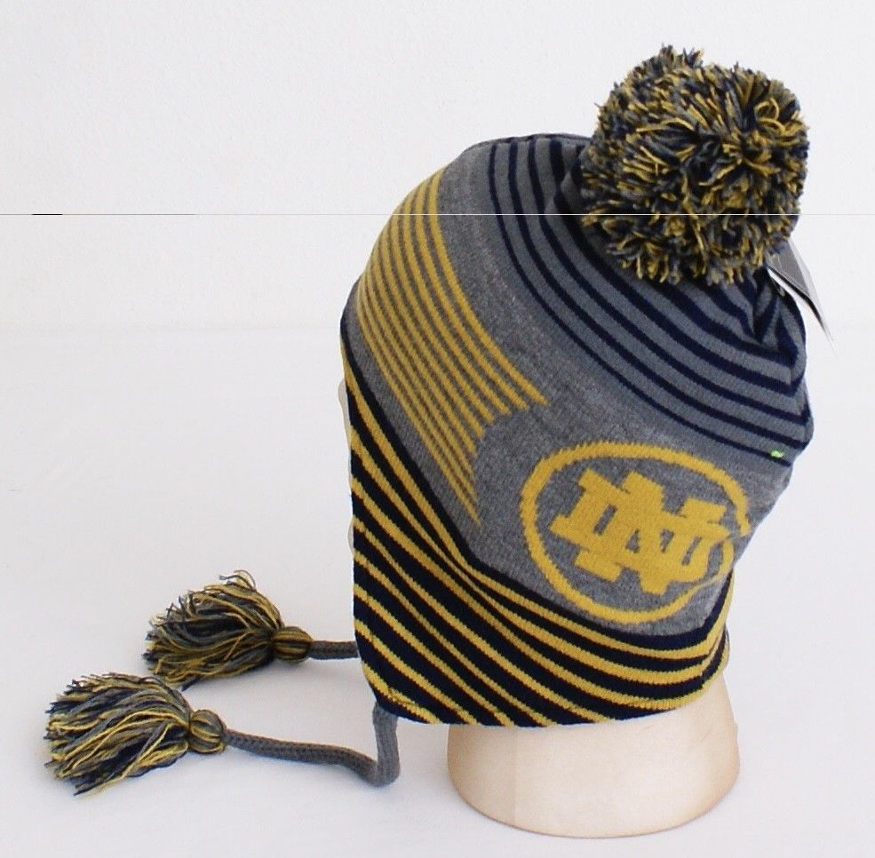 21ff048e40c Under Armour Collegiate Notre Dame Knit Earflap Tassel Beanie Men s One  Size NWT