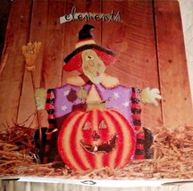 Elements Halloween Witch & Pumpkin Metal Tealight Holder w/Candle New - €4,04 EUR