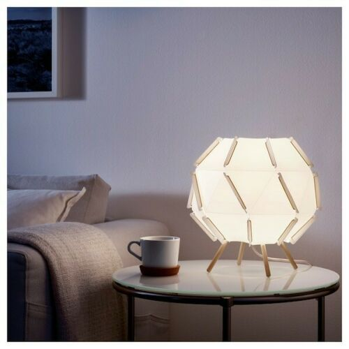 IKEA SJÖPENNA Table Lamp, White, 11 x 12""