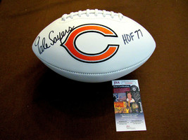 GALE SAYERS HOF 77 CHICAGO BEARS SIGNED AUTO SB XX BEARS STAT FOOTBALL J... - $247.49