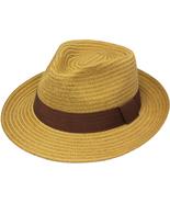 Henschel Paper Cotton Braid Fedora Mid Size Brim Grosgrain Ribbon Band W... - $50.00