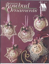 Rosebud Ornaments Crochet Pattern~Annie's~10 Designs - $10.99
