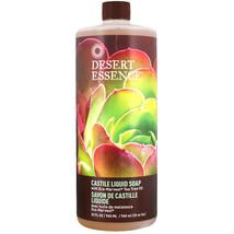 Desert Essence, Castile Liquid Soap with Eco-Harvest Tea Tree Oil, 32 fl... - $18.28