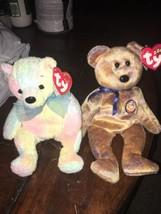 Lot Of 2 TY Beanie Buddy CLUBBY III Bear w/Tag Retired 2000 & MellowBear... - $3.47