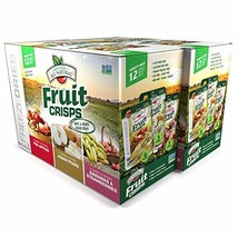 Brothers-ALL-Natural Fruit Crisps, Variety Pack, 4.44 Ounce Bag, 12 Count Pack o