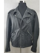 Harley Davidson Mens Classic Black Leather Motorcycle Riding Jacket Size: L - $254.83