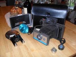 Vintage Polaroid 210 Instant Film Land Camera Kit Flash Instructions & C... - $23.74