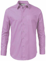 Men's Solid Long Sleeve Formal Button Up French Convertible Cuff Dress Shirt image 13