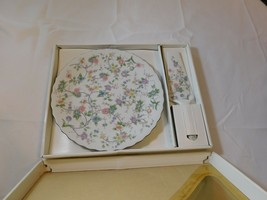 "10"" Cake Plate Matching Server Andrea Sadek Corona Porcelain 7694 Patel ... - £20.21 GBP"