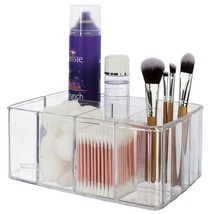 Premium Quality Clear Plastic Vanity Organizer 5 Compartments Bathroom O... - $18.81