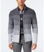 Alfani Men's Ombre Striped Sweater Jacket Grey XL - $42.08