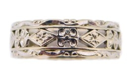 14k White Gold Floral Pierced Eternity Band (#J3914) - $332.50