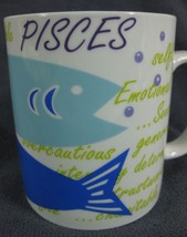 Pisces Coffee Mug Cup Zodiac Horoscope Not A Cold Fish Porcelain Februar... - $17.95