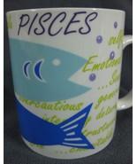 Pisces Coffee Mug Cup Zodiac Horoscope Not A Cold Fish Porcelain February 14oz - $17.95