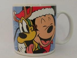 Disney Applause Mickey Mouse & Pluto Christmas Mug Friends Make Holidays Bright - $11.00