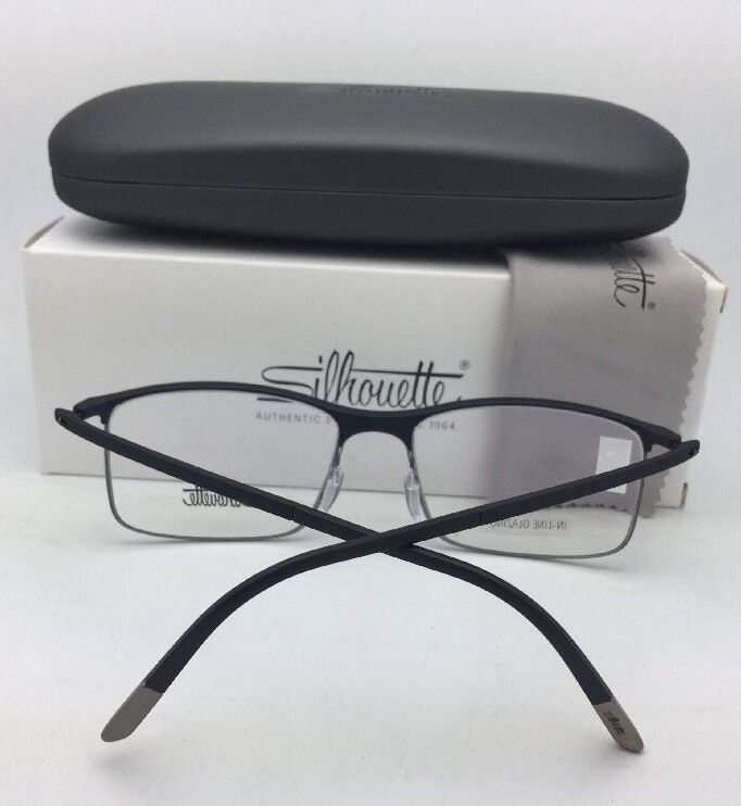 Primary image for New SILHOUETTE Eyeglasses SPX 2904 20 6050 54-18 140 Matte Black & Gold Frame