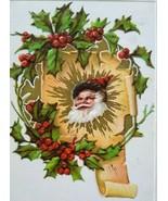 Vintage Christmas Postcard Santa Claus P Sander Series 901 Embossed Orig... - $22.23