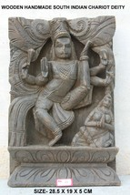 Wall Panel Statue Goddess Wood Hand Carving Home Decor Vintage Collectible - $462.84