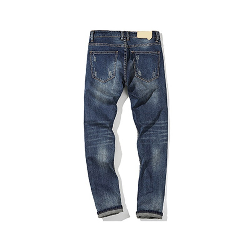 New Fashion jeans men casual pants famous brand mens Trousers plus trousers ripp image 3