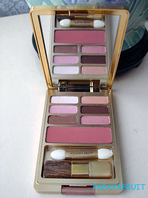 Primary image for Gold Estee Lauder Palette~6 EyeShadow & Blush~NUDE ROSE