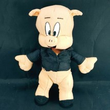 "Porky Pig Looney Tunes 9"" Plush Stuffed Animal Ace Novelty Co Black Dres... - $11.87"