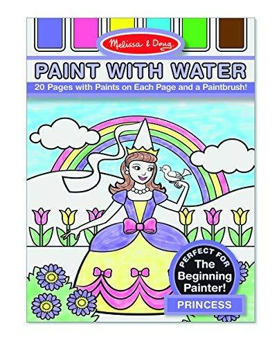 Primary image for Melissa & Doug Paint With Water - Princess, 20 Perforated Pages With Spillproof