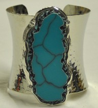 Blue silver cuff bracelet thumb200