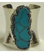 Turquoise Silver Cuff Bracelet - $17.00