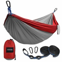 Kootek Camping Hammock Portable Indoor Outdoor Tree Hammock with 2 Hangi... - $30.50