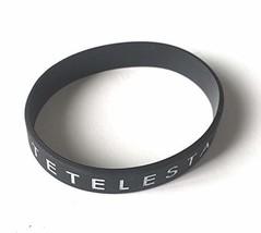 Revelation Culture Tetelestai Bracelet Christian Silicone Wide Wristband Black image 1
