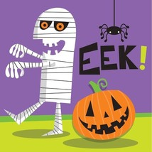 Creepy Characters 16 Ct Beverage Napkins Halloween Party Mummy EEK! - £2.15 GBP