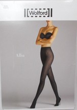 Wolford Alba Tights Hosiery Black Size L - $34.60
