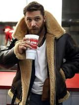 Tom Hardy Dunkirk Shearing leather jacket Coat for men bane aviator Fur ... - $139.99