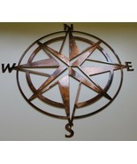 "Nautical Compass Rose Wall Art Decor Copper/Bronze Plated 16"" x 16"" - £32.78 GBP"