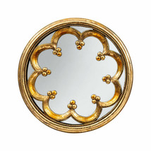 """Antiqued Gold 12"""" Round Wall Mirror - 76979 - $56.42"""