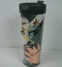 Starbucks Siren Travel Tumbler Cup Mug Abstract Face 16 oz 2012 BPA Free  - $18.80