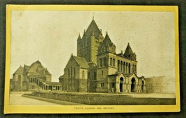 Antique Singer Sewing Co. Trade Card  'Trinity Church - Boston Mass.' (B-1) - $14.99