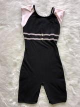 Freestyle Danskin Black Pink Heart Gems Girls Large Dance Uniform Unitar... - $12.60