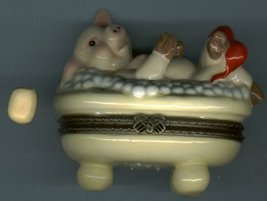 PIG IN TUB HINGED BOX - £8.45 GBP