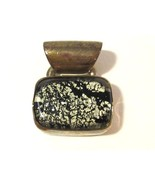 Sterling silver 925 mixed black & white cabochon pendant - $18.00