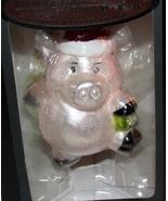 Celebrations by Radko Pig Christmas Ornament Handcrafted Glass NEW Santa... - $10.00