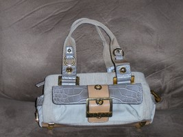 Guess Satchel Canvas Silver Croc Small Purse Handbag - $19.97