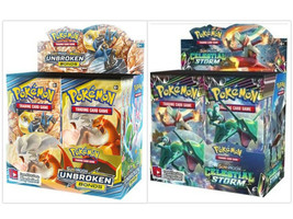 Pokemon TCG Sun & Moon Unbroken Bonds + Celestial Storm Booster Box Bundle - $209.99