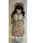 """15-1/2"""" Porcelain Doll Dark Brown Hair Brown Eyes Unbranded  - $19.79"""