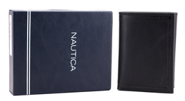Nautica Men's Genuine Vintage Leather Credit Card Id Trifold Wallet image 8