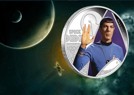 2015 P Star Trek Spock 1oz .999 Silver Proof Coin In Original Mint Packaging UNC image 2