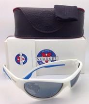 Vuarnet Polarisé Sunglasses Vl 0109 0007 Blanc et Bleu Cadre W / Gris-Bleu