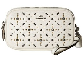 COACH – Crossbody Clutch with Prairie Rivets (Chalk Silver, Small) - $139.90
