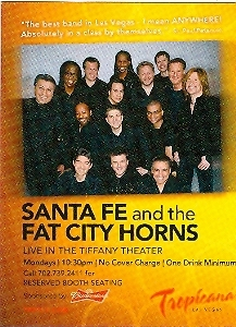 Primary image for Santa Fe and the Fat City Horns Tropicana Hotel Las Vegas Promo Card