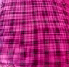 Plaid Black Pink Fuchsia Fabric Hair Scrunchie Scrunchies by Sherry  - $6.99